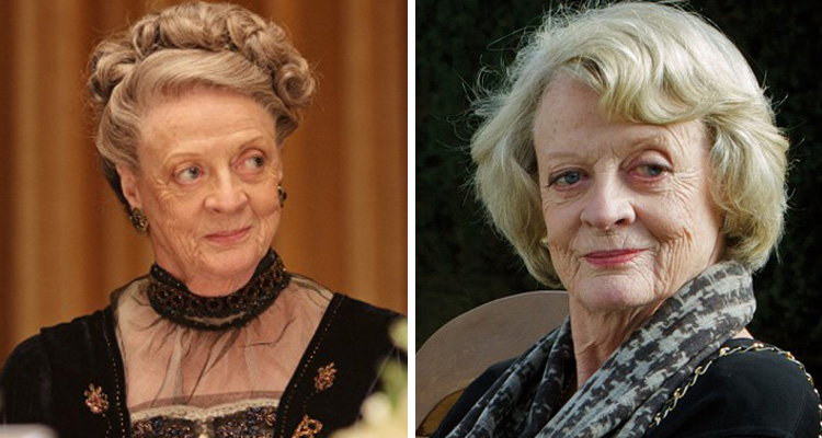 Maggie Smith Downton Abbey Wig